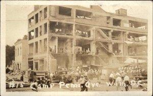 Washington DC Bonus Army BEF WWII Vets Great Depression 1932 RPPC #15