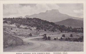 Colorado Trinidad Scenic Highway With Fishers Peak Albertype