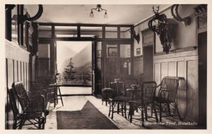 Tirol Hotelhalle HochFinstermunz Real Photo 1950s Postcard