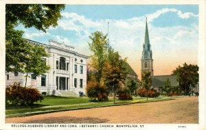 VT - Montpelier. Kellogg-Hubbard Library, Bethany Congregational Church