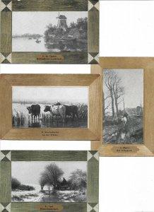 Netherlands Holland Landscape With Windmills Postcard Lot of 9 01.11