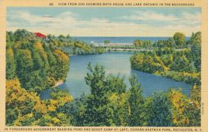 View toward Lake Ontario from Zoo Durand Eastman Park Rochester New York pm 1948