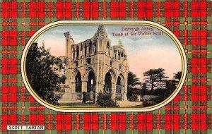 Dryburgh Abbey Tomb of Sir Walter Scott Scotland, UK Unused