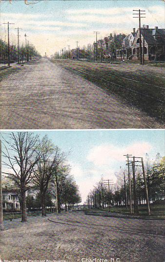 North Carolina Charlotte Dilworth and Piedmont Boulevards