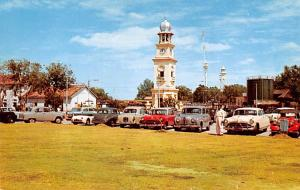 Malaysia Old Vintage Antique Post Card Clock Tower Penang Unused