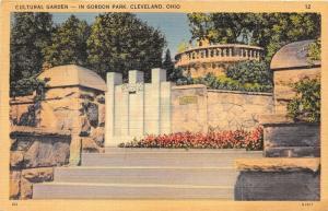 Cleveland Ohio~Garden Park-Cultural Garden~1946 Postcard