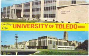 Building Views, Greetings from University of Toledo, Ohio, OH, Chrome