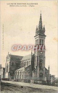 Old Postcard The Country Breton Illustrates Ereac (North Cotes) The Church