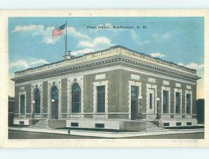 Unused W-Border POST OFFICE SCENE Rochester New Hampshire NH hs1339