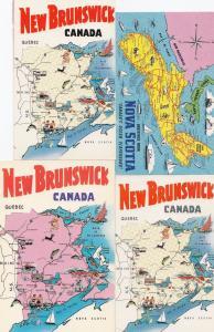 New Brunswick Canadian Map 4x Canada Postcard s