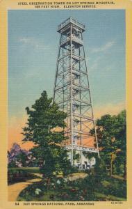 Hot Springs National Park AR, Arkansas 165 Foot Observation Tower - Linen