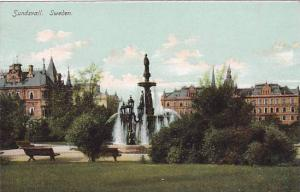 Sundsvall, Waterfountain, Sweden, 1910-1920s