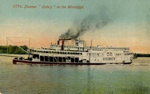 Steamer Quincy on the Mississippi River