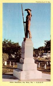 Florida Key West The Maine Monument 1948 Dexter Press