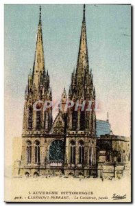 Clermont Ferrand Old Postcard The Cathedral Facade