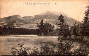 Maine Mount Katahdin From Togue Pond