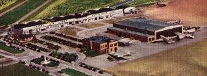 1941 Transcontinental Airport Cheyenne Wyoming Vintage Standard View Postcard