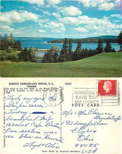 Baddeck Harbour, Cape Breton, Nova Scotia, Canada, 1964 Chrome