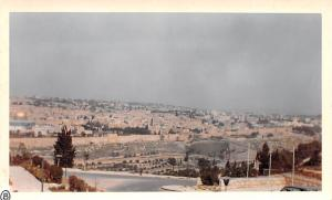 Jordan Old Vintage Antique Post Card View from hotel of city 1 mile away Jeru...