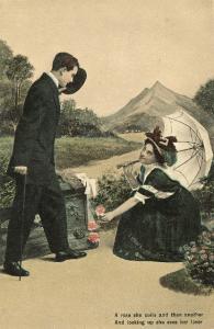 6 Vintage ROMANCE Postcards 1908 Set Th.EL Series 2023