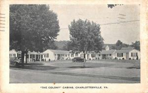 Charlottesville Virginia view of The Colony cabins antique pc Z39930