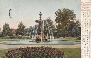 Pennsylvania Philadelphia Fountain At Strawberry Mansion Fairmount Park 1906 ...