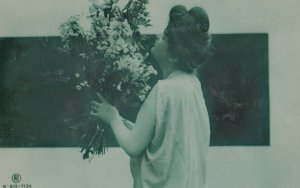 RP; Woman Holding Flowers , 00-10s