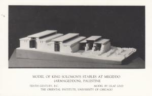 RP: Model of King Solomons Stables, MEGIDDO , Palestine, 20-40s