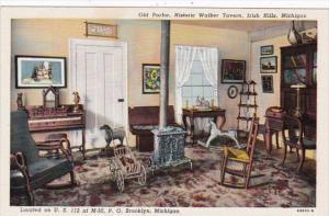 Michigan Irish Hills Old Parlor Historic Walker Tavern Curteich