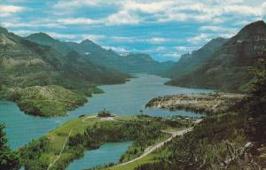 Aerial View, WATERTON LAKES, Alberta, Canada, 40-60's
