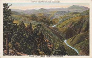 Colorado Denver Mountain Parks Clear Creek Canon From Colorow Point Curteich