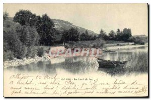 Old Postcard Au Lac edge