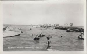 RP: TURKEY POINT , Ontario , 1910s-1930s ; Swimmers at pier