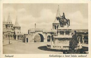 Hungary Budapest Szent Istvan Fisher Bastion Saint Stephen equestrian statue