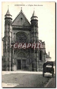 Old Postcard Compiegne The Church of Saint Anthony