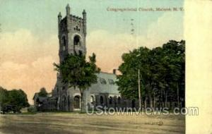 Congregational Church Malone NY Postal Used Unknown