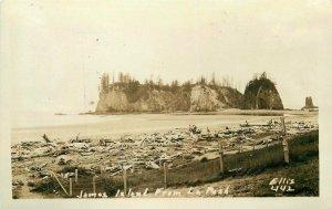 Ellis James Island 1920s La Push Washington RPPC Photo #442 Postcard 7140