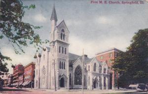 SPRINGFIELD, Illinois; First M. E. Church, PU-1909