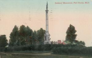 PORT HURON , Michigan , PU-1910 ; Soldiers Monument