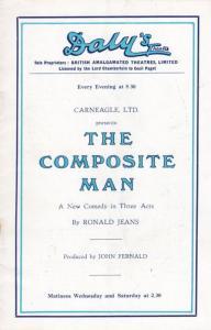 The Composite Man Diana Churchill Dalys Comedy  Theatre London Programme
