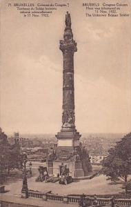 Belgium Brussels Bruxelles Monument Congress Column Here Was Inhumated On 11 ...