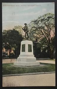 Springfield Mass Second Regiment Statue 1908 Mason Bros & Co