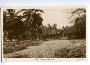 147441 Sierra Leone FREETOWN Tokeh village Vintage postcard