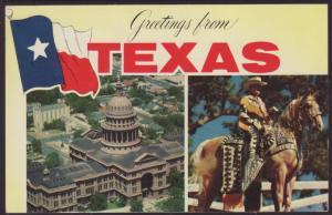 Greetings From Texas Postcard BIN