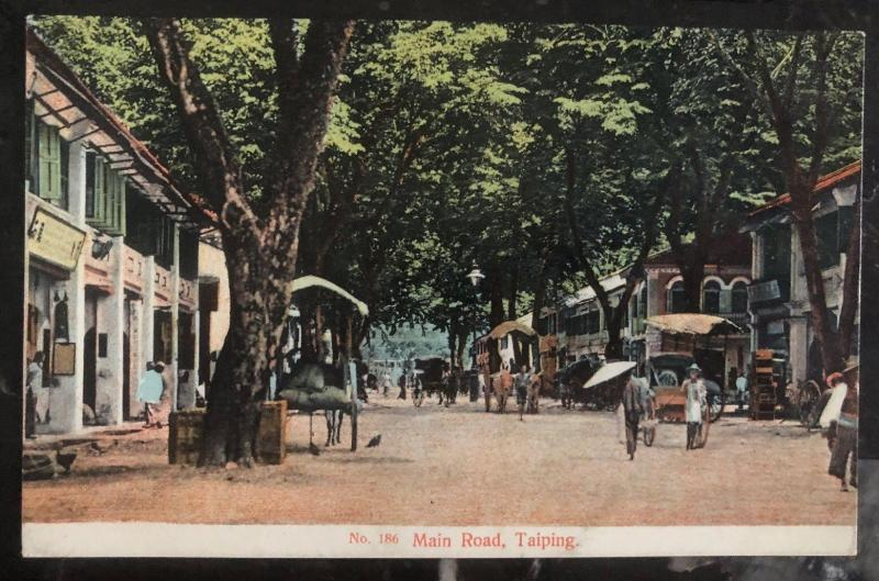 Mint Taiping Malaya PPC Picture Postcard Main Road View
