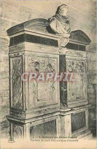 Postcard Old Abbey of Saint Denis Tomb of Louis XIII and Anne of Austria