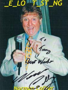 Norman Collier Comedian Hand Signed Photo