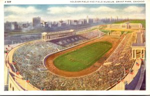 Illinois Chicago Grant Soldier Field and Field Museum 1941