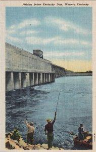 KENTUCKY, 1930-40s; Fishing Below Dam