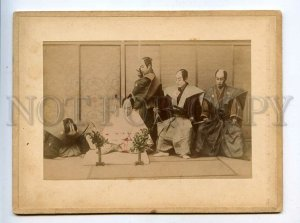 3081051 JAPAN SAMURAI w/ swords & horseman Vintage two PHOTOS